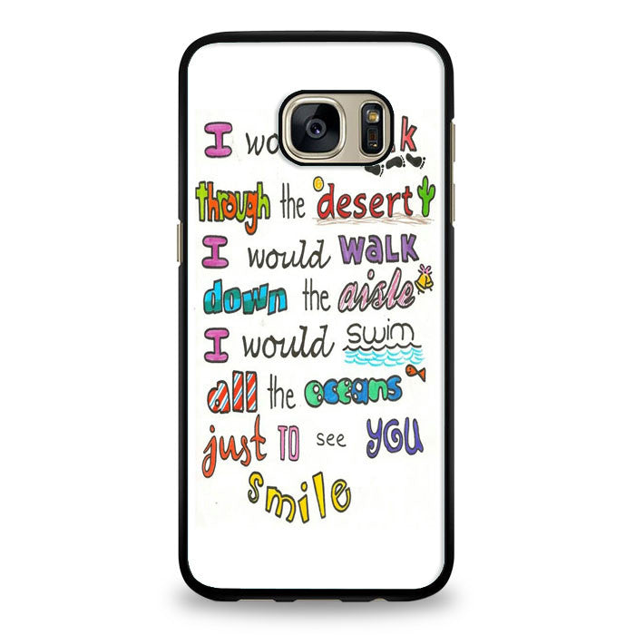 1D Lyrics Samsung Galaxy S7 Edge Case | yukitacase.com