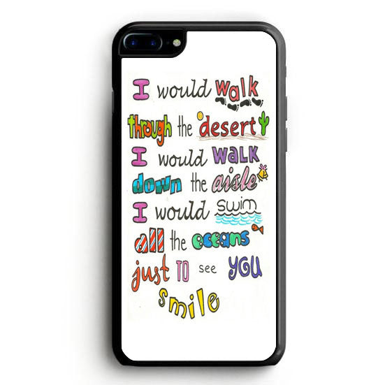 1D Lyrics iPhone 7 Case | yukitacase.com