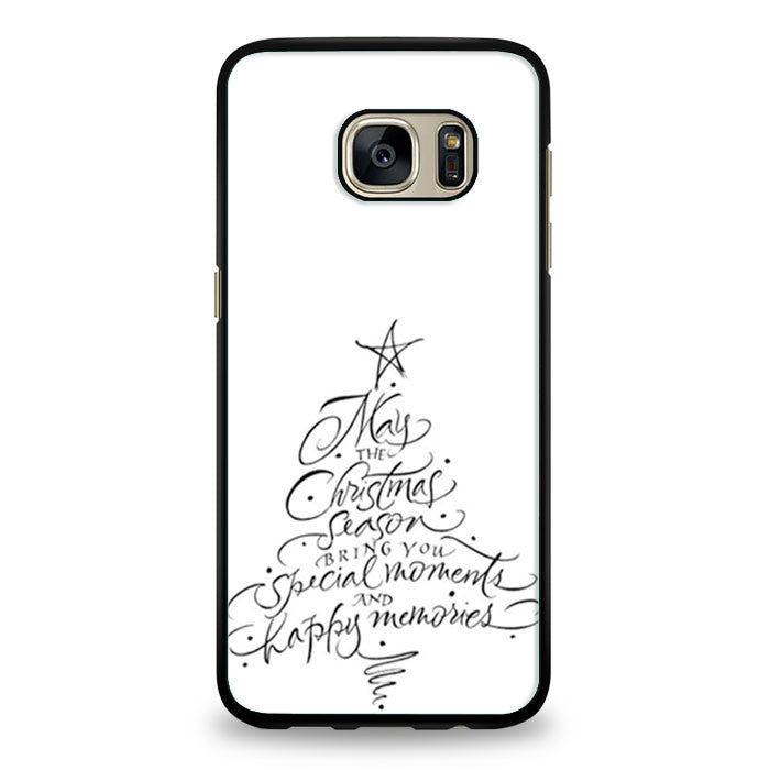 Chrismast Tree Handwriter Samsung Galaxy S7 Edge | yukitacase.com