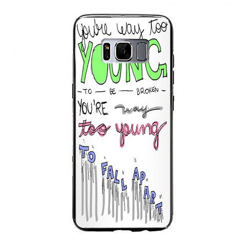 3OH!3 - I'm Not the One Lyric Cover Samsung Galaxy S8 Case | yukitacase.com