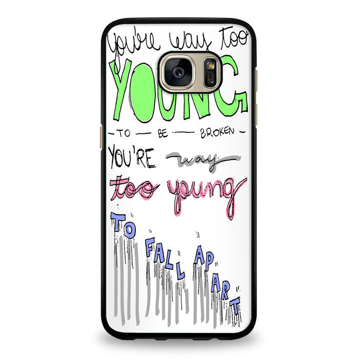 3OH!3 - I'm Not the One Lyric Cover Samsung Galaxy S7 Edge Case | yukitacase.com