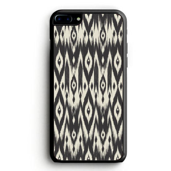 Black & Cream Tribal Ikat iPhone 7 | yukitacase.com