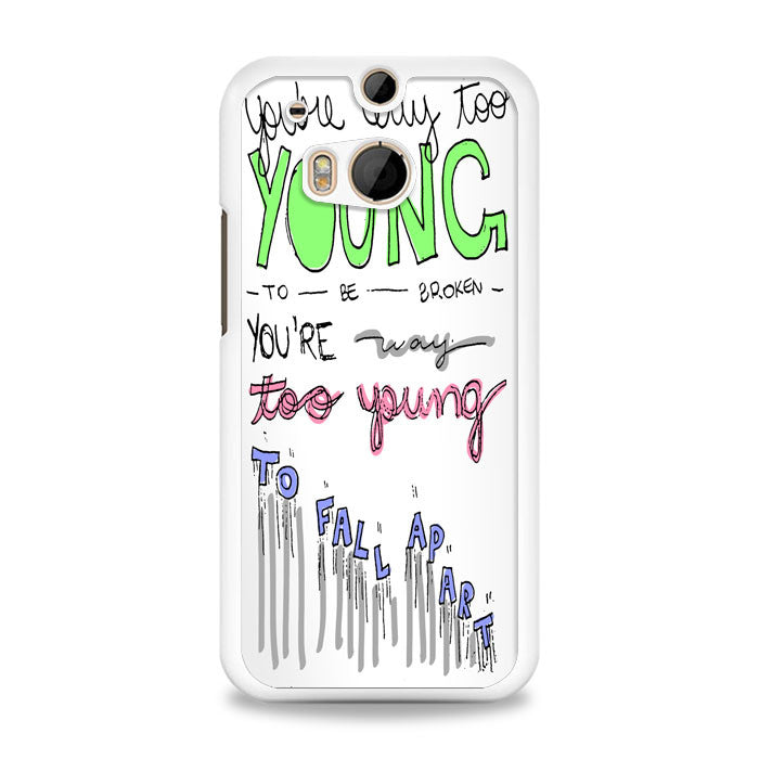 3OH!3 - I'm Not the One Lyric Cover HTC One M8 Case | yukitacase.com