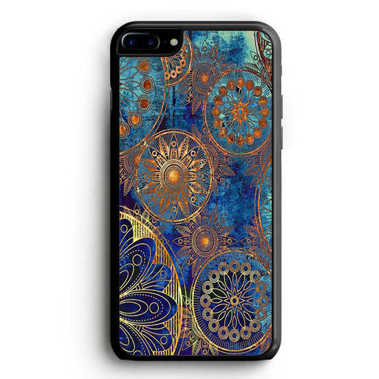 Bohemian Blue Gold iPhone 7 Plus | yukitacase.com