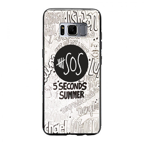 5 Seconds Of summer collage Samsung Galaxy S8 Case | yukitacase.com