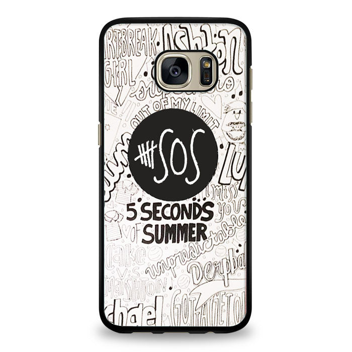 5 Seconds Of summer collage Samsung Galaxy S7 Edge Case | yukitacase.com
