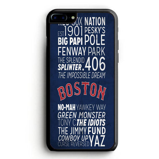 Boston Red Shock Poster iPhone 6 Plus | yukitacase.com