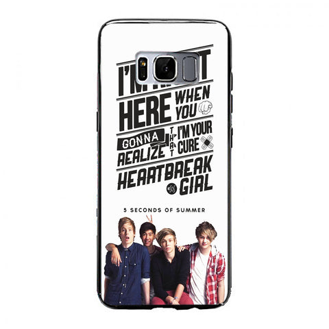 5 seconds of summer with quotes Samsung Galaxy S8 Case | yukitacase.com