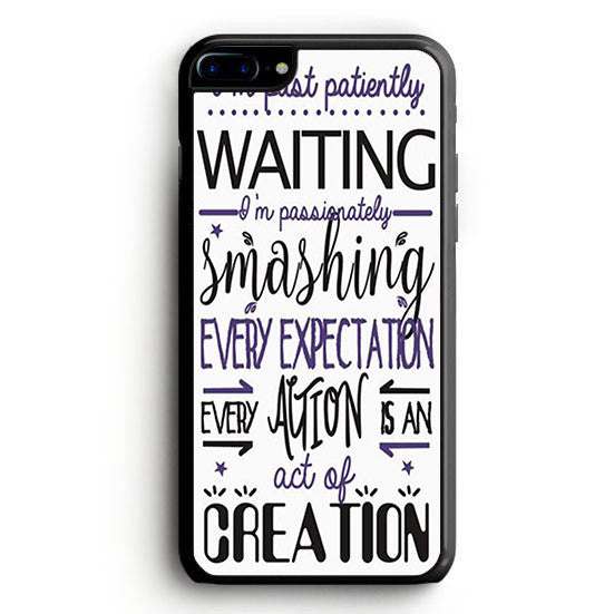 Hamilton Musical Quote I'm past iPhone 7 | yukitacase.com