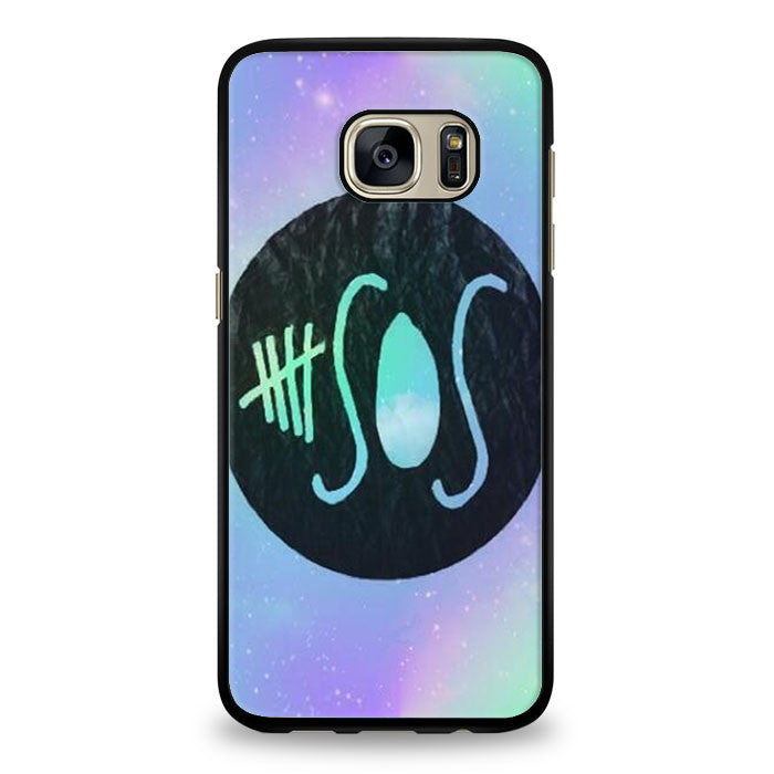 5 SOS Galaxy Design Samsung Galaxy S7 Edge Case | yukitacase.com