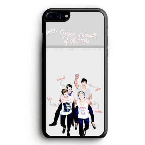 5 sos meet iPhone 7 Case | yukitacase.com