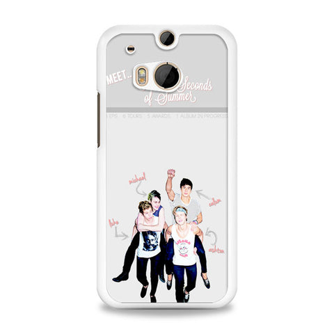 5 sos meet HTC One M8 Case | yukitacase.com