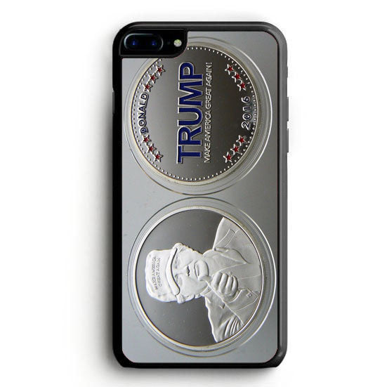Donald Trump Presidential Campaign Challenge Coin Round Silver Plated iPhone 7 Plus | yukitacase.com