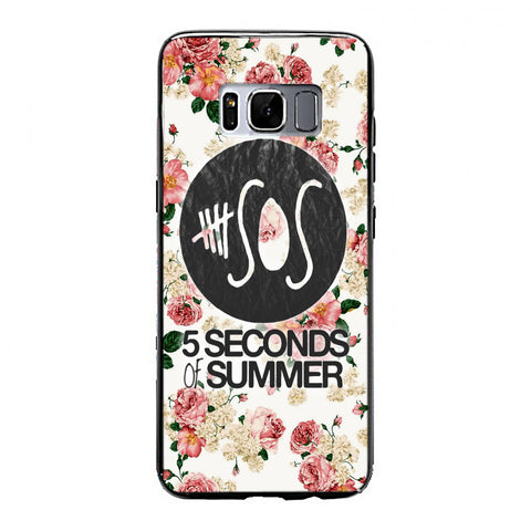 5SOS Floral fitted Samsung Galaxy S8 Case | yukitacase.com