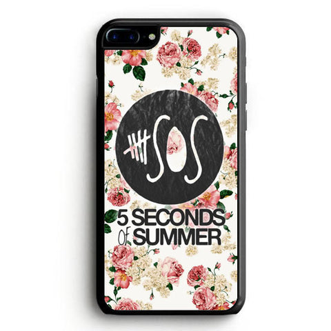 5SOS Floral fitted iPhone 7 Plus Case | yukitacase.com