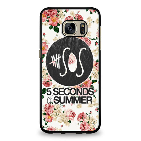 5SOS Floral fitted Samsung Galaxy S7 Case | yukitacase.com