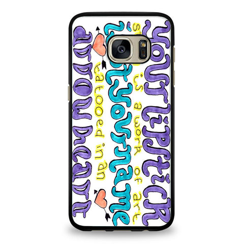 5SOS She Looks So Perfect Cover Samsung Galaxy S6 Edge Case | yukitacase.com