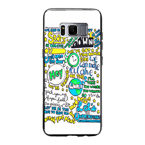 5SOS Unpredictable Lyric Cover Samsung Galaxy S8 Plus Case | yukitacase.com