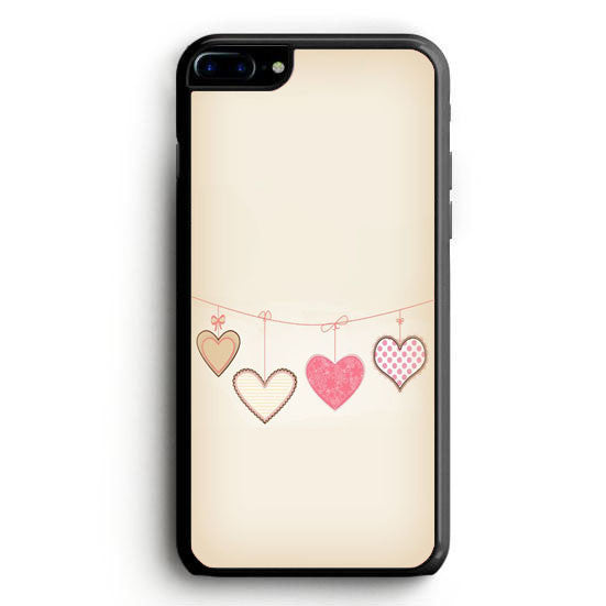Hearts Hung iPhone 7 | yukitacase.com