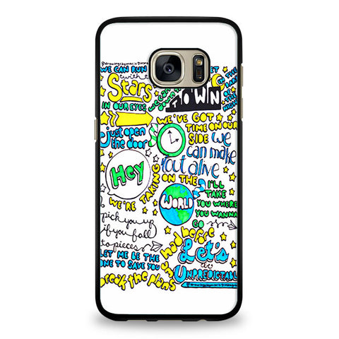 5SOS Unpredictable Lyric Cover Samsung Galaxy S6 Edge Case | yukitacase.com