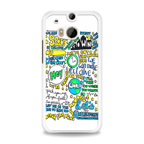 5SOS Unpredictable Lyric Cover HTC One M8 Case | yukitacase.com