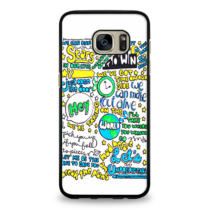 5SOS Unpredictable Lyric Cover Samsung Galaxy S7 Edge Case | yukitacase.com