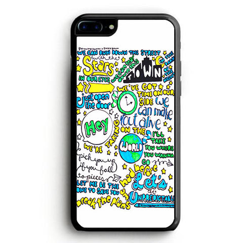 5SOS Unpredictable Lyric Cover iPhone 7 Case | yukitacase.com