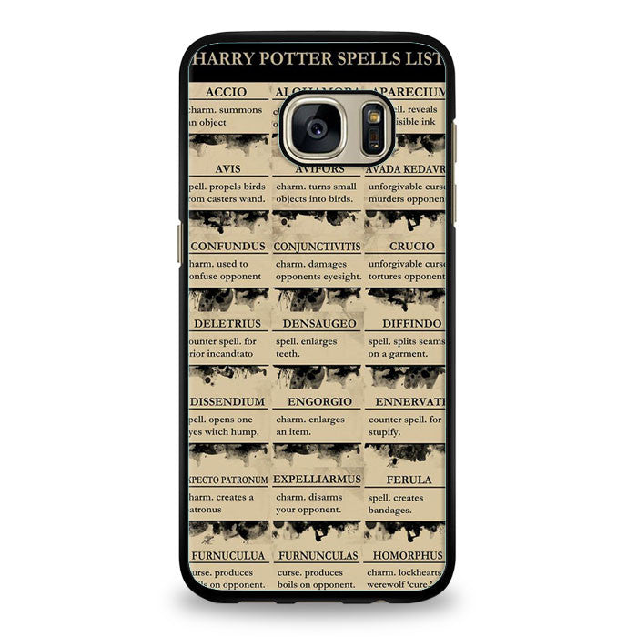 Harry Potter Spells List Expecto Patronum Samsung Galaxy S7 Edge | yukitacase.com