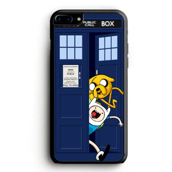 Adventure Time Jake Finn In Dr Who Tardis Call Box iPhone 7 Plus Case | yukitacase.com