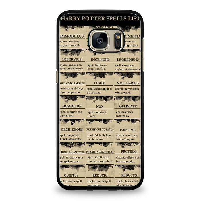 Harry Potter Spells List Lumos Samsung Galaxy S7 Edge | yukitacase.com