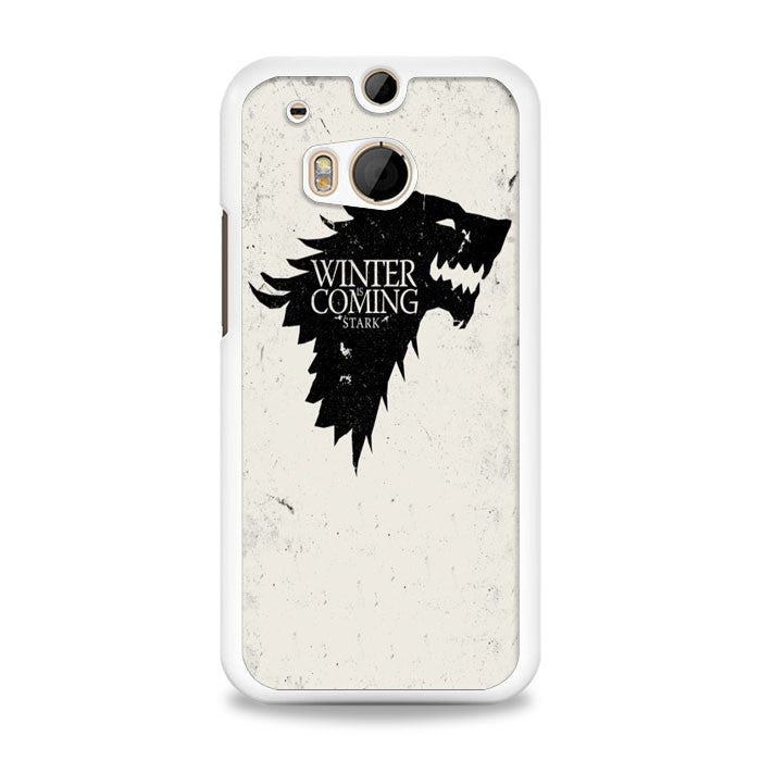 Game of Thrones Winter Is Coming Black HTC One M8 | yukitacase.com