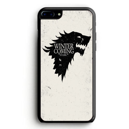 Game of Thrones Winter Is Coming Black iPhone 7 Plus | yukitacase.com