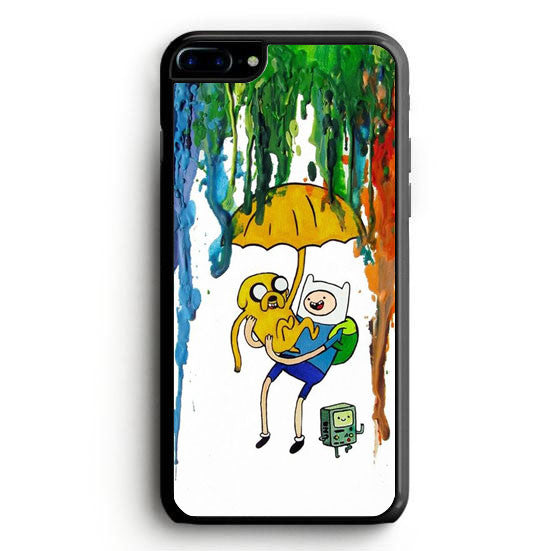 Adventure Time Jake Finn In Dr Who Tardis Call Box Galaxy Nebula iPhone 7 Case | yukitacase.com