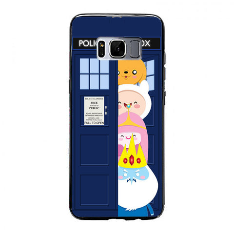 adventurre time character escape from dr who tardis Samsung Galaxy S8 Case | yukitacase.com