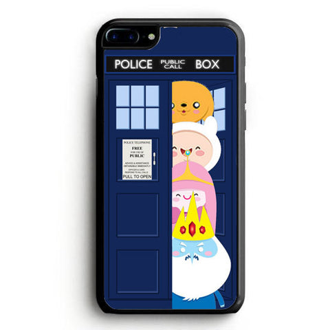 adventurre time character escape from dr who tardis iPhone 7 Case | yukitacase.com