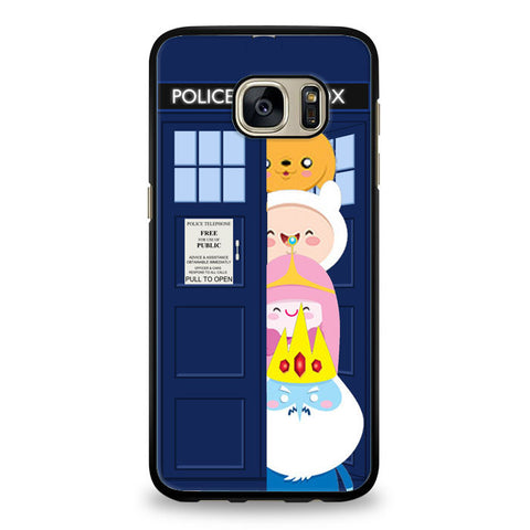 adventurre time character escape from dr who tardis Samsung Galaxy S6 Edge Case | yukitacase.com