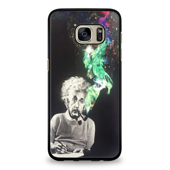 Albert Einstein Smoking Samsung Galaxy S6 Edge Plus Case | yukitacase.com