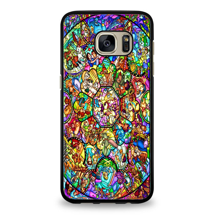 All disney heroes stained glass iphone Case Samsung Galaxy S6 Edge Case | yukitacase.com