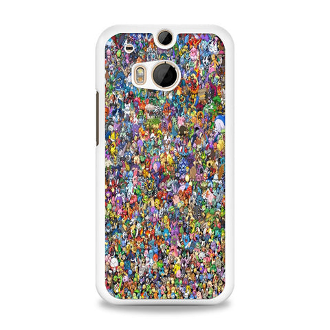 All Pokemon Characters HTC One M8 Case | yukitacase.com