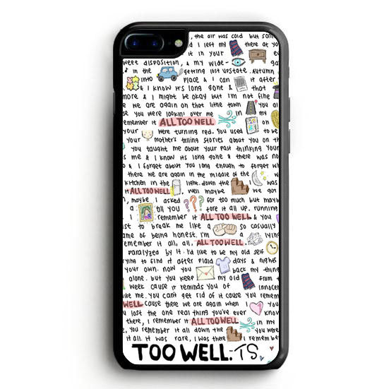All Too Well Lyric iPhone 6S Plus Case | yukitacase.com