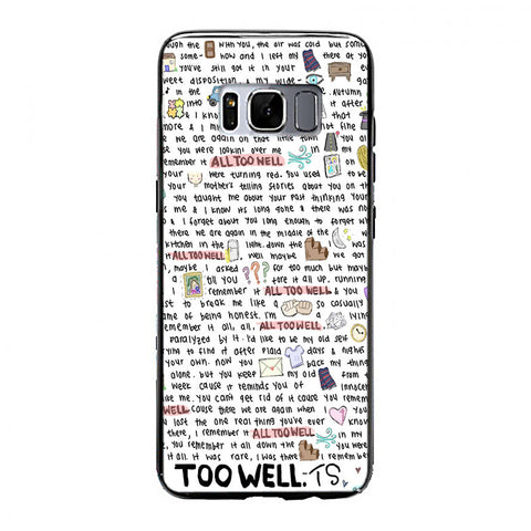 All Too Well Lyric Cover Samsung Galaxy S8 Plus Case | yukitacase.com