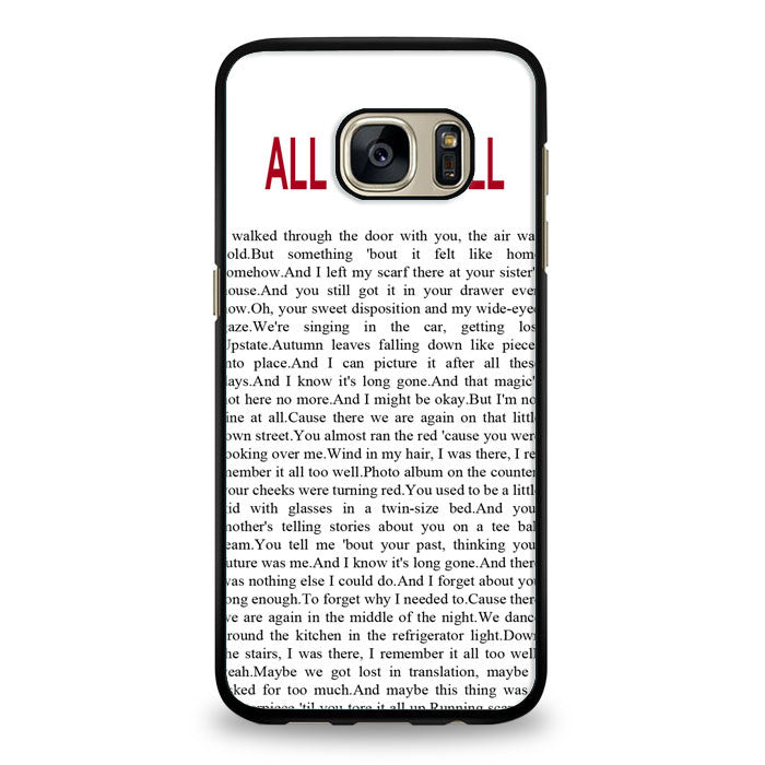 All Too Well Lyric Cover Samsung Galaxy S7 Case | yukitacase.com