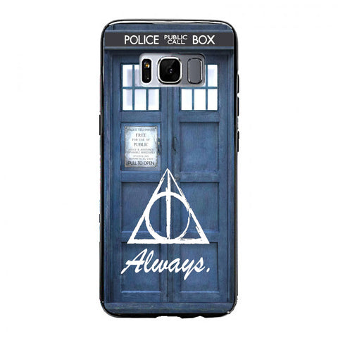 always the deathly hollows dr who tardis Samsung Galaxy S8 Plus Case | yukitacase.com