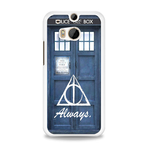 always the deathly hollows dr who tardis HTC One M8 Case | yukitacase.com