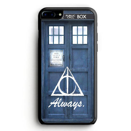 always the deathly hollows dr who tardis iPhone 7 Plus Case | yukitacase.com