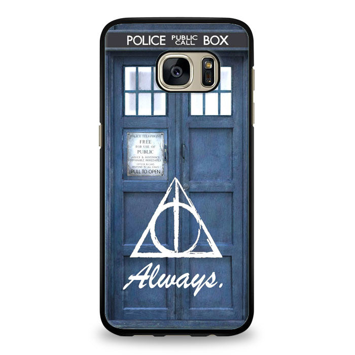always the deathly hollows dr who tardis Samsung Galaxy S6 Edge Case | yukitacase.com