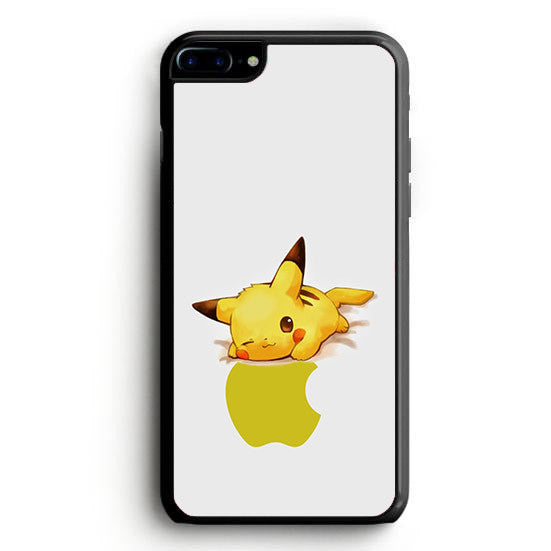 Pikachu Apple Logo iPhone 6 Plus | yukitacase.com