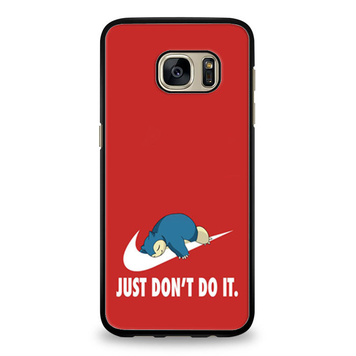 Pokemon's Snorlax is a Nike logo with a parody of Nike's slogan Don't do it Samsung Galaxy S7 Edge | yukitacase.com