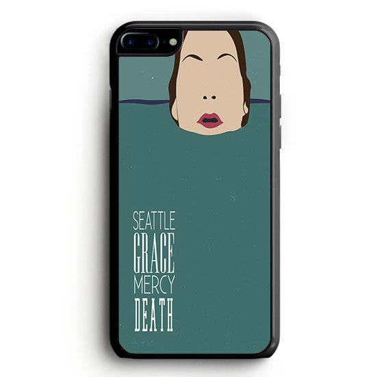Seattle Grace Mercy Death Minimalist Tv Serie Poster Design Show ( Grey's Anatomy) iPhone 7 | yukitacase.com