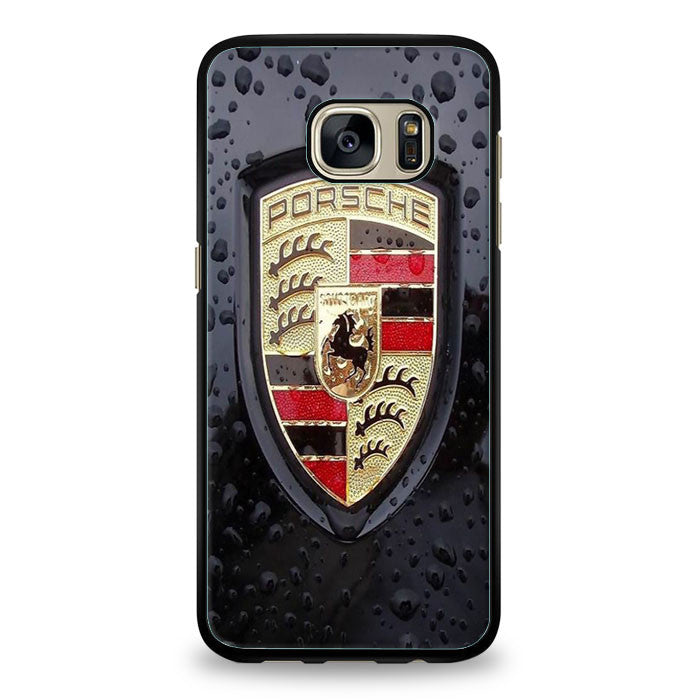Porsche Cars Logo On Rain Samsung Galaxy S6 Edge Plus | yukitacase.com